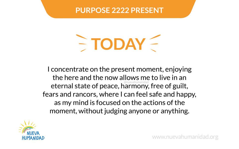 Purpose 2222 Present