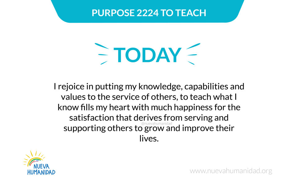 Purpose 2224 To teach