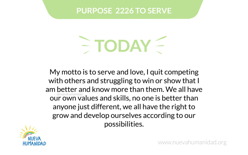 Purpose 2226 To serve
