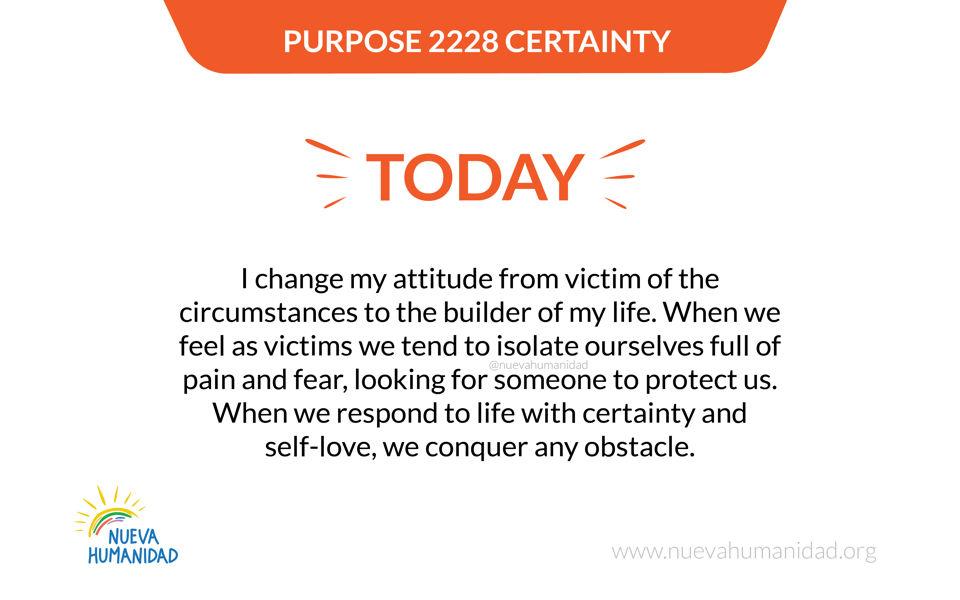 Purpose 2228 Certainty