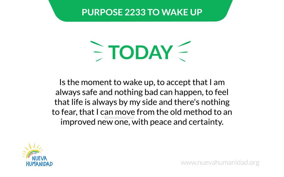 Purpose 2233 To wake up