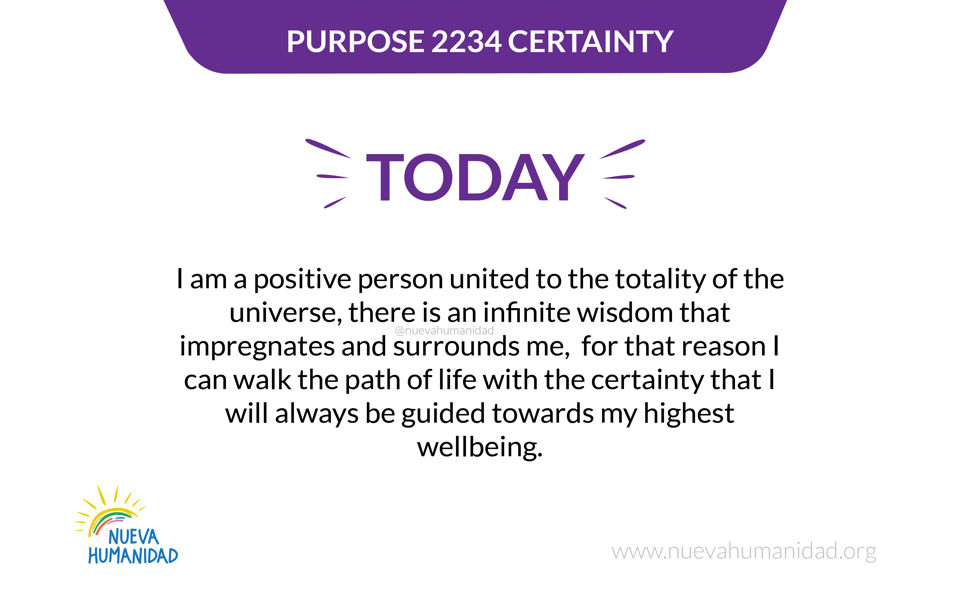 Purpose 2234 Certainty