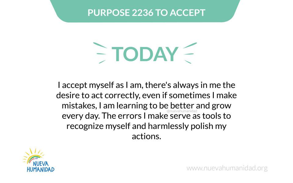 Purpose 2236 To accept