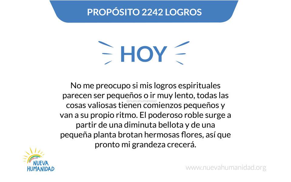 Propósito 2242 Logros