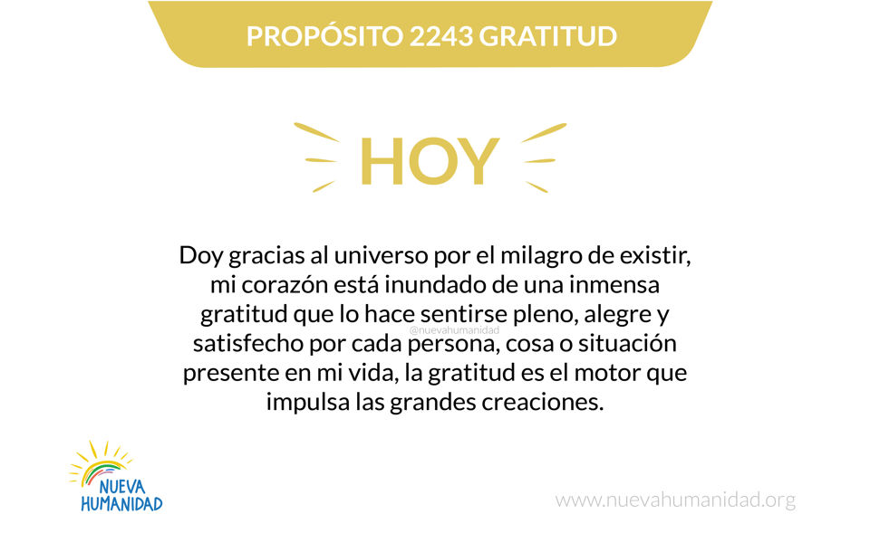 Propósito 2243 Gratitud