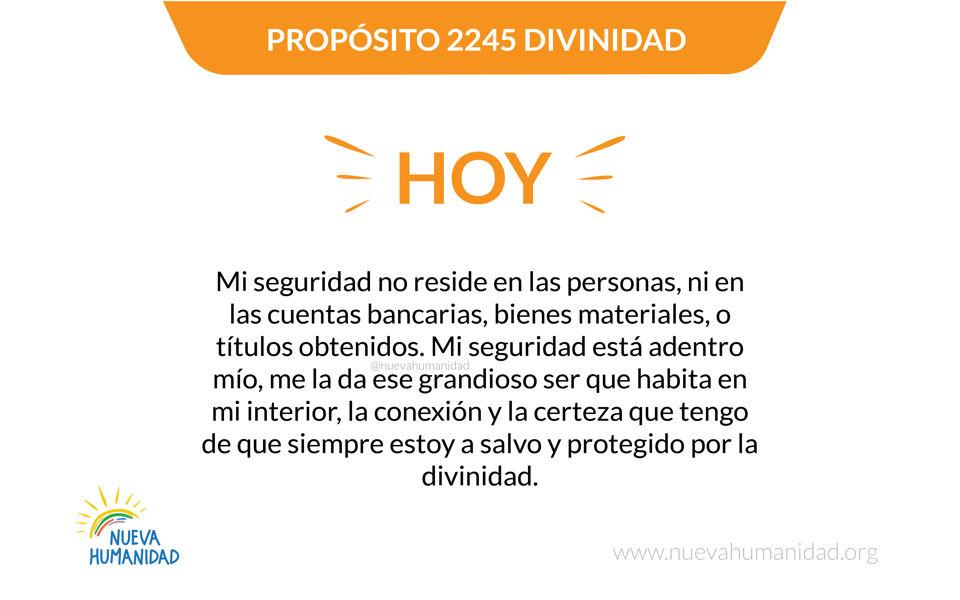 Propósito 2245 Divinidad