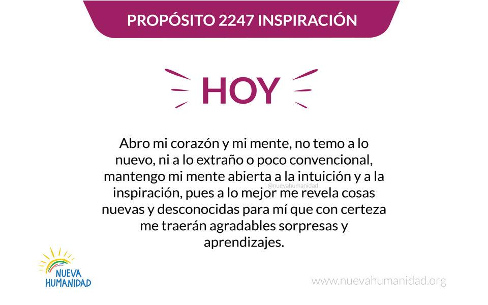 Propósito 2247 Inspiración