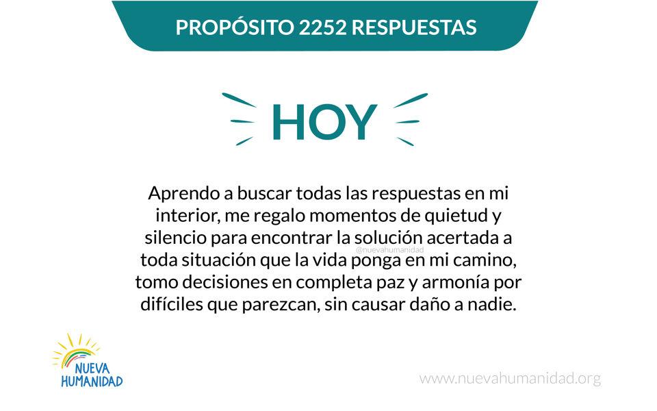 Propósito 2252 Respuestas