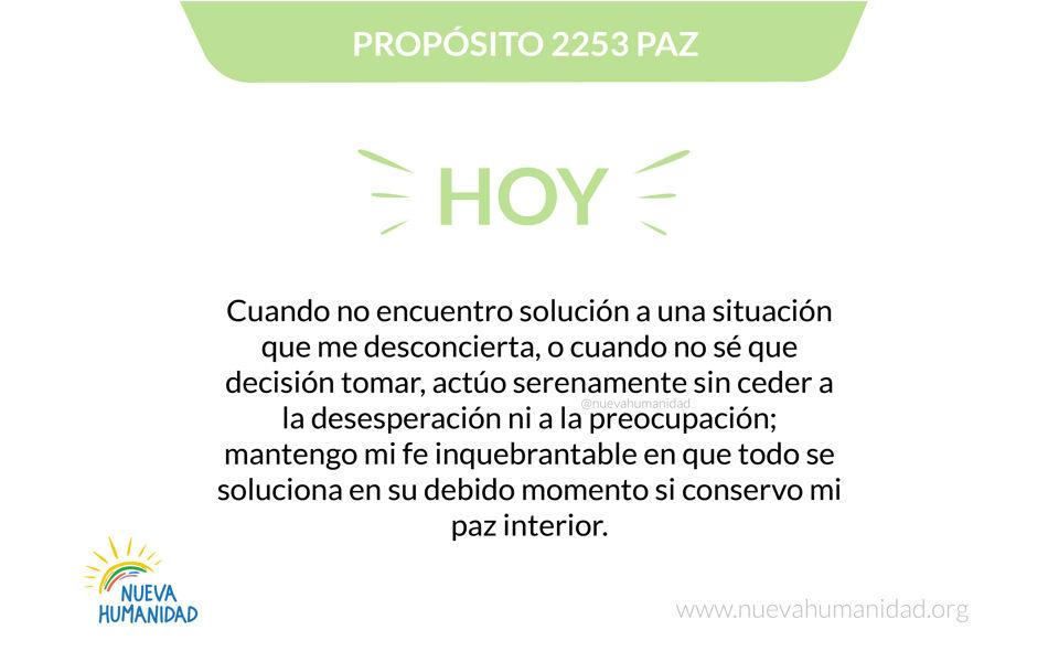Propósito 2253 Paz
