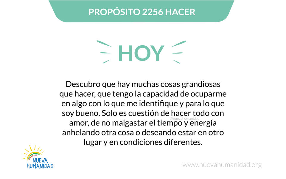 Propósito 2256 Hacer