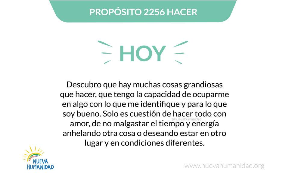 Propósito 2256 Hacer