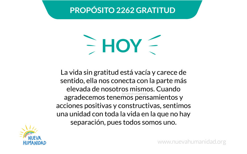 Propósito 2262 Gratitud