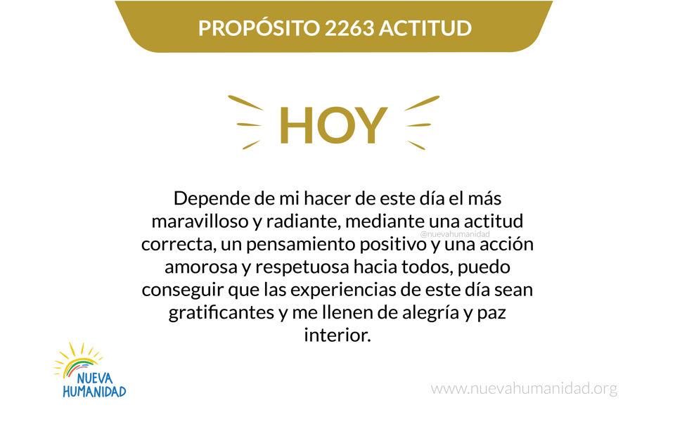 Propósito 2263 Actitud