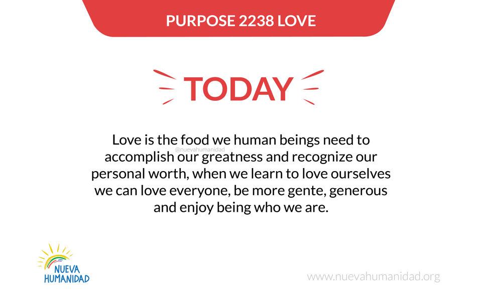 Purpose 2238 Love