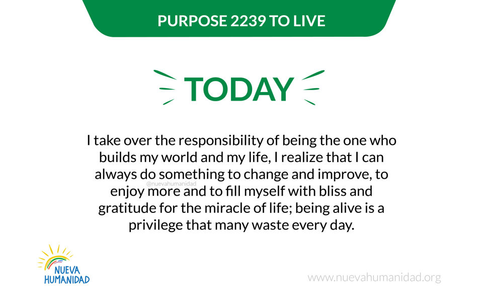 Purpose 2239 To live