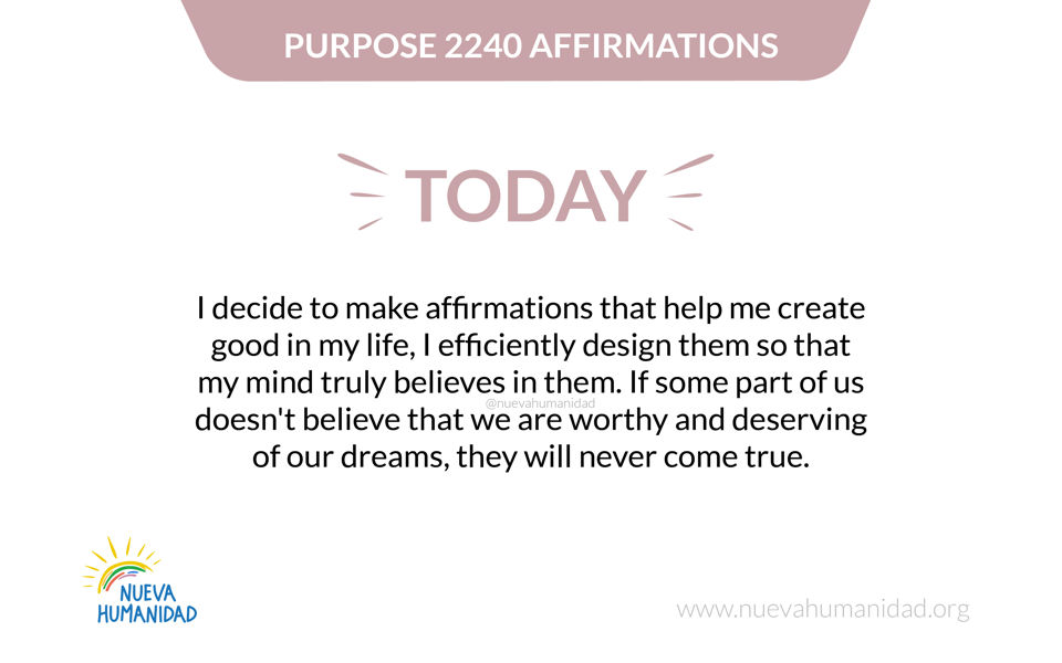 Purpose 2240 Affirmations