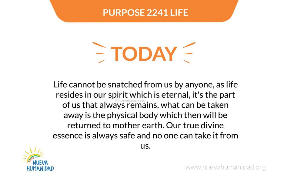 Purpose 2241 Life