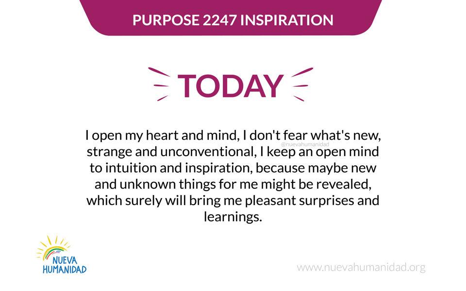 Purpose 2247 Inspiration