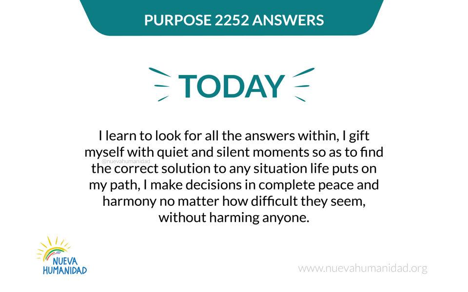 Purpose 2252 Answers