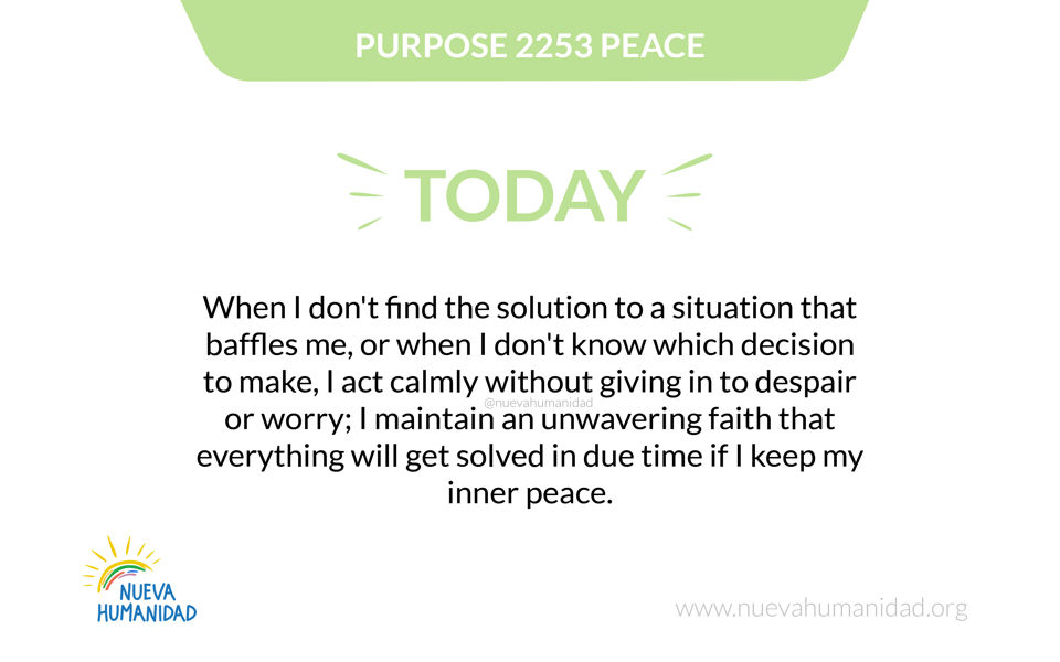 Purpose 2253 Peace