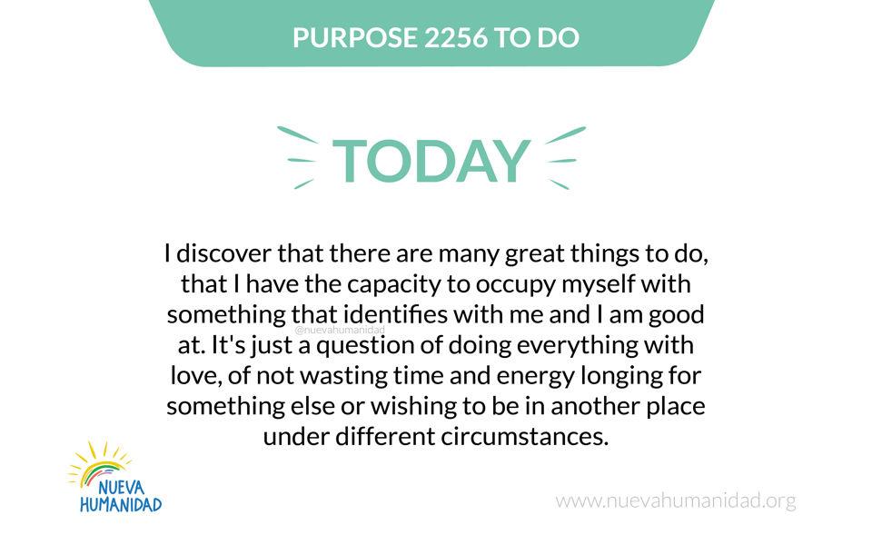 Purpose 2256 To do