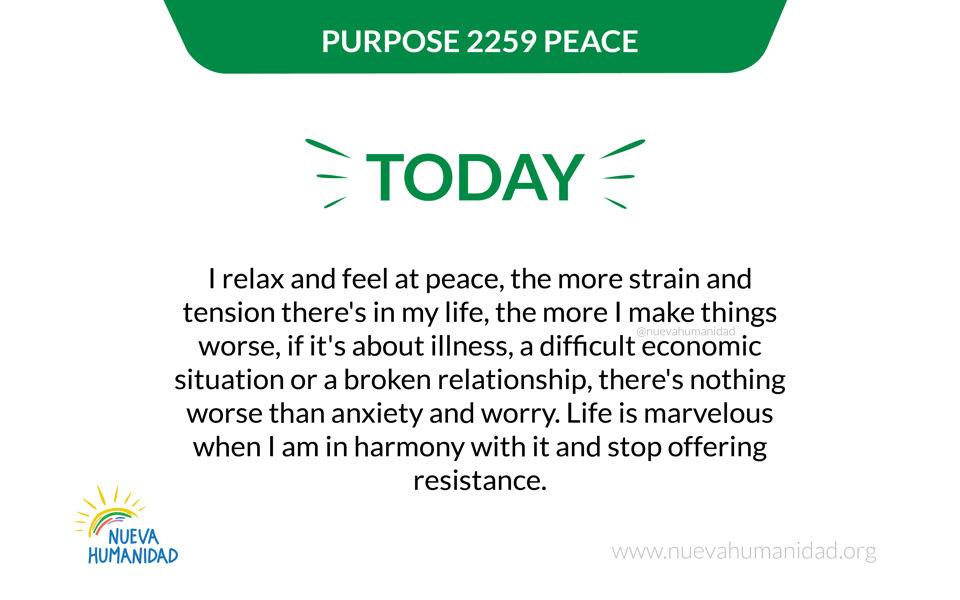 Purpose 2259 Peace