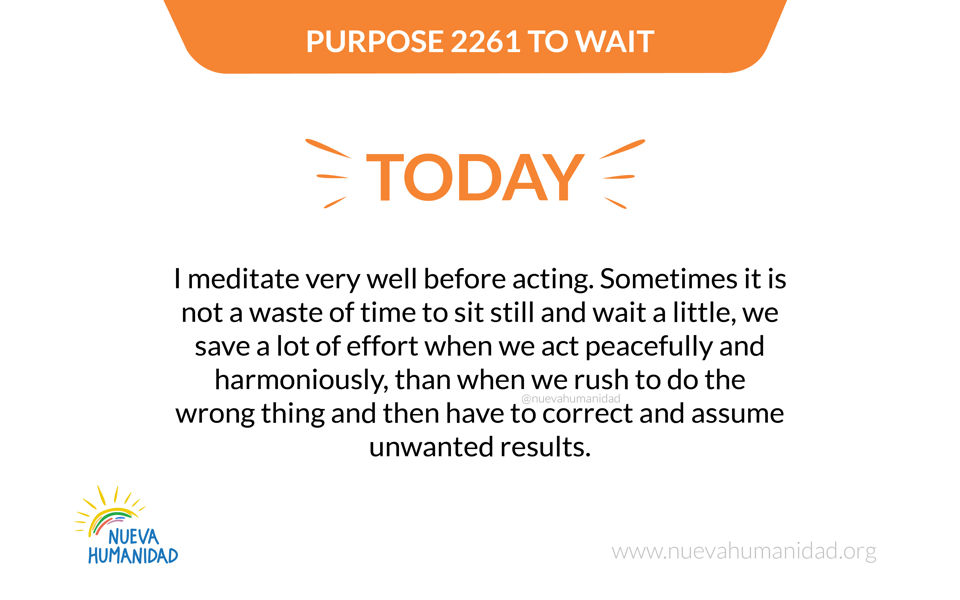 Purpose 2261 To wait