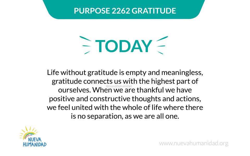 Purpose 2262 Gratitude