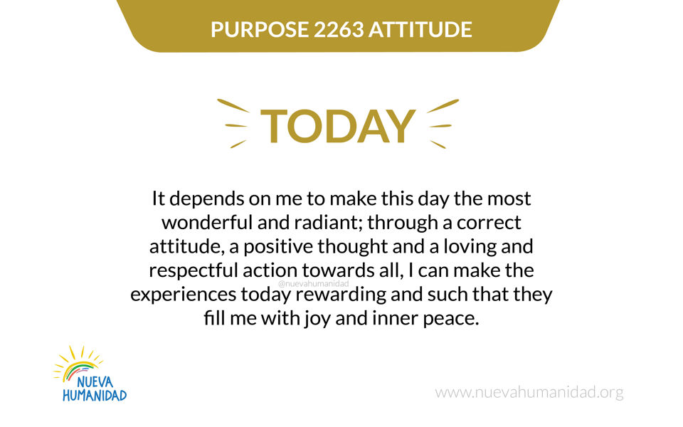 Purpose 2263 Attitude