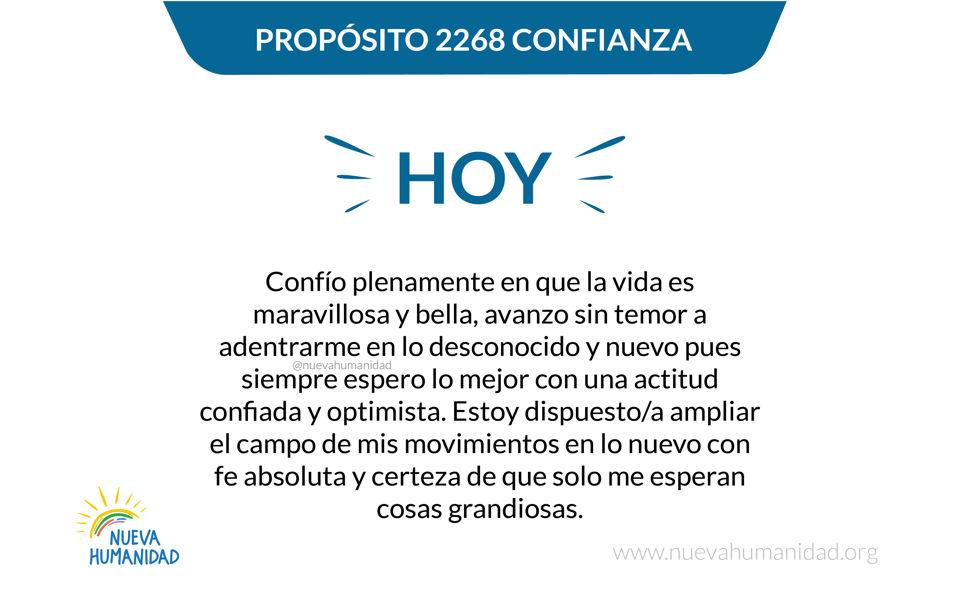 Propósito 2268 Confianza