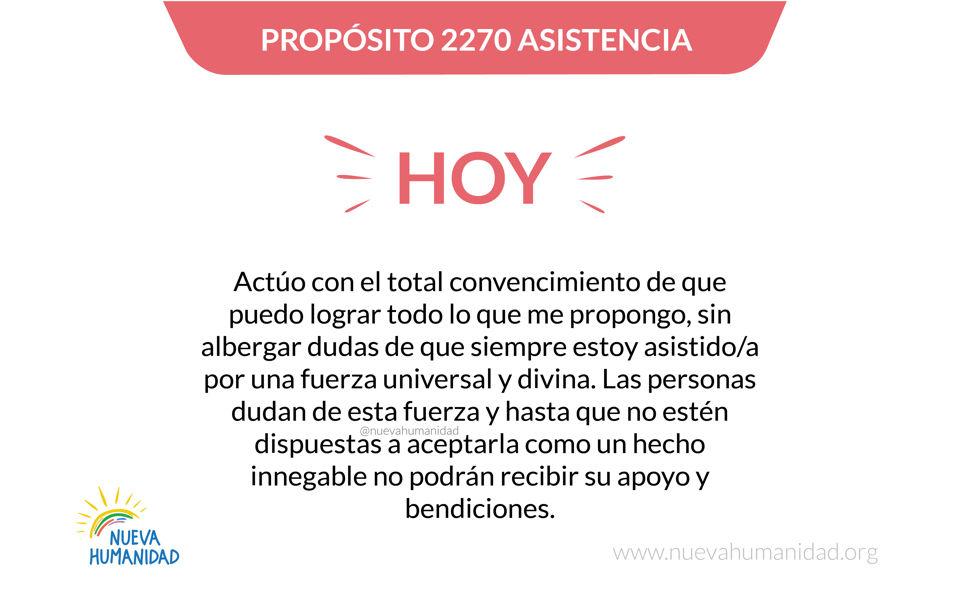 Propósito 2270 Asistencia
