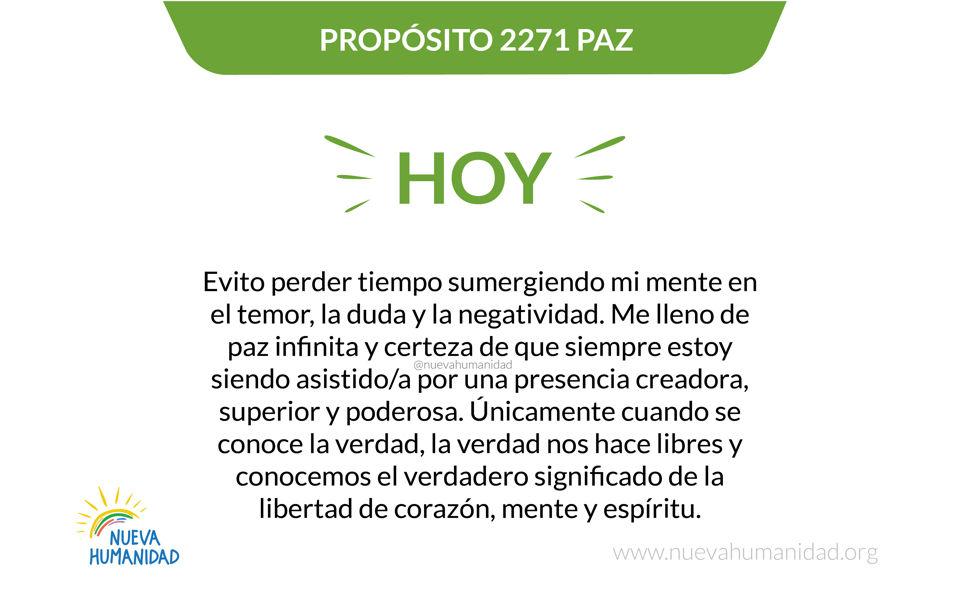 Propósito 2271 Paz