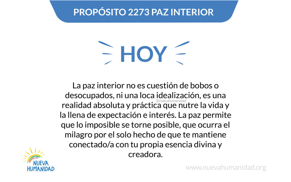 Propósito 2273 Paz Interior