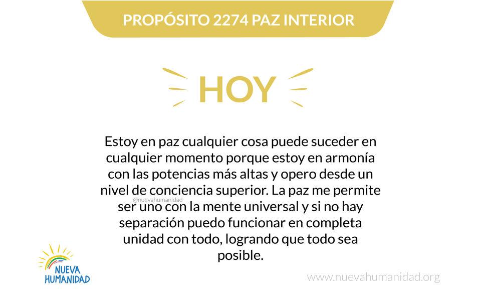 Propósito 2274 Paz Interior