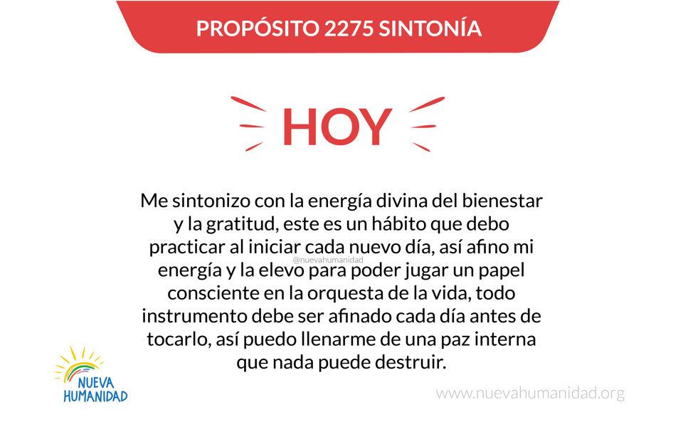 Propósito 2275 Sintonía