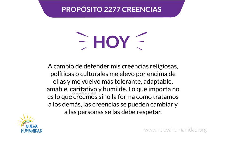 Propósito 2277 Creencias