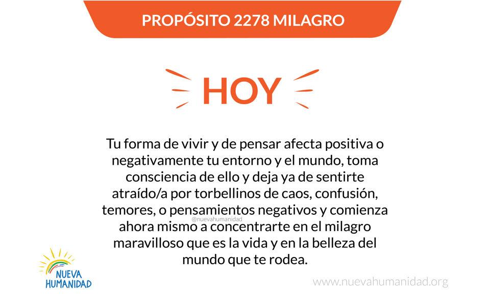 Propósito 2278 Milagro