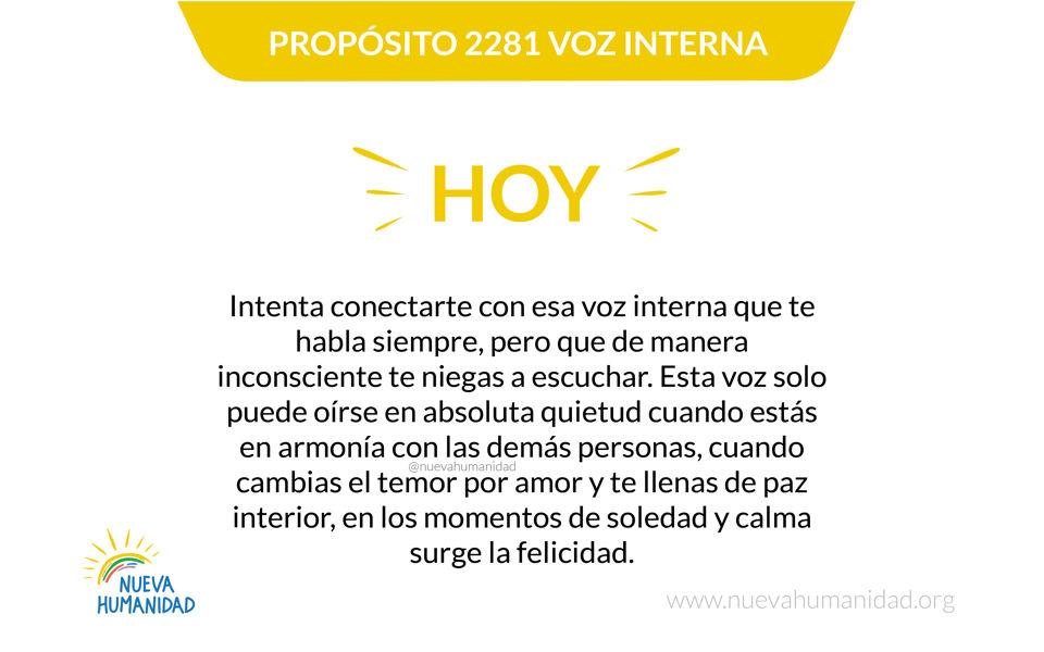 Propósito 2281 Voz interna