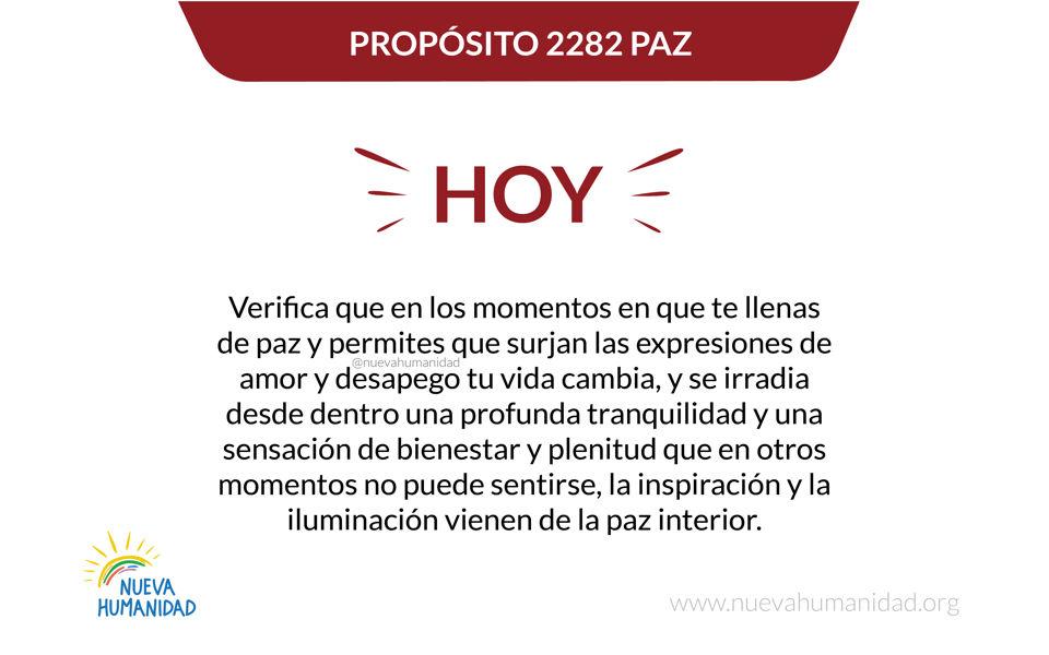 Propósito 2282 Paz