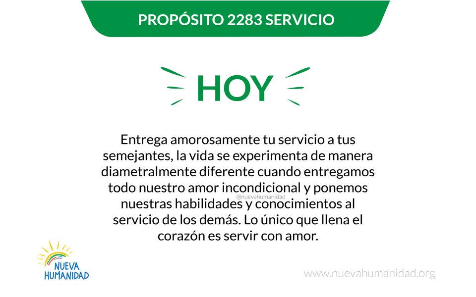 Propósito 2283 Servicio