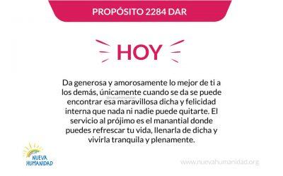 Propósito 2284 Dar