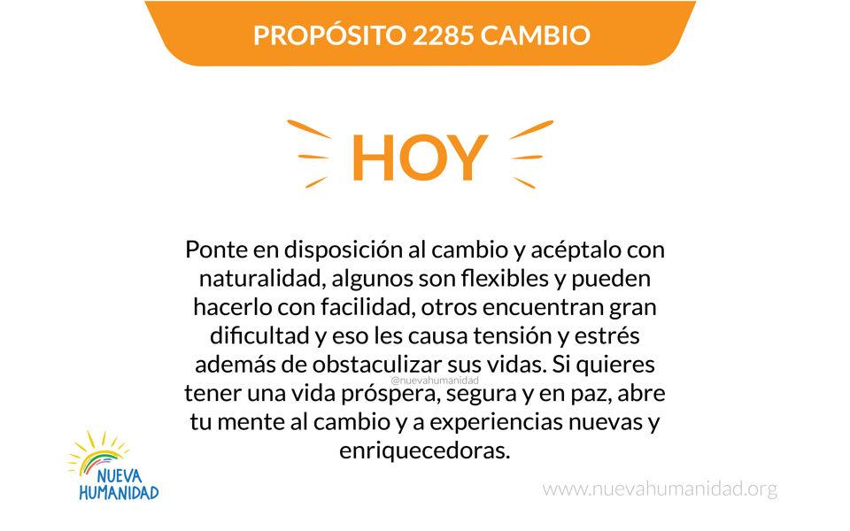 Propósito 2285 Cambio
