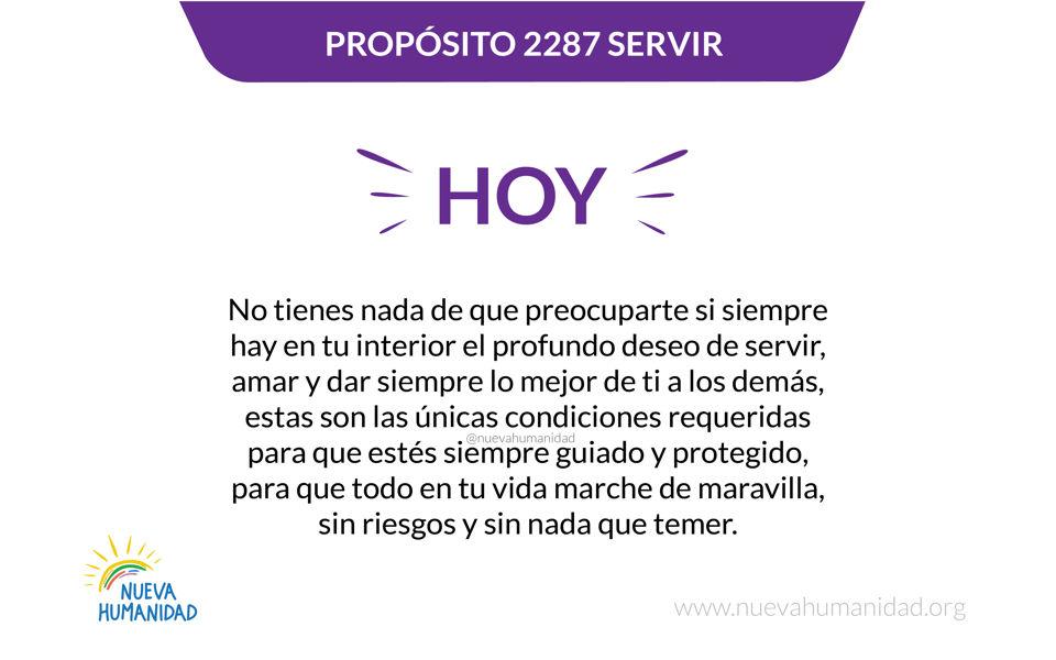 Propósito 2287 Servir