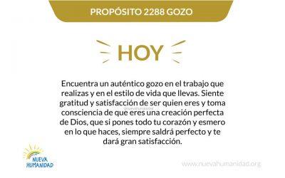 Propósito 2288 Gozo