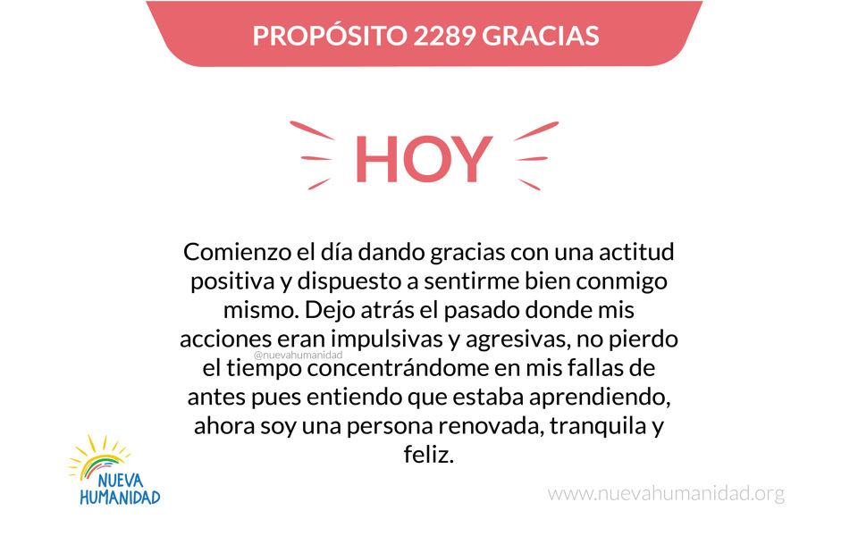 Propósito 2289 Gracias