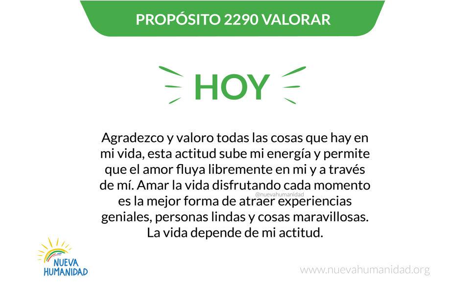 Propósito 2290 Valorar