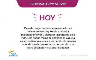 Propósito 2291 Servir