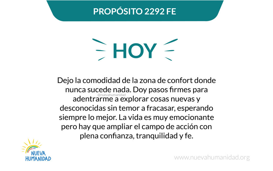 Propósito 2292 Fe