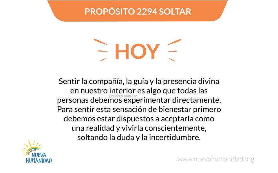 Propósito 2294 Soltar