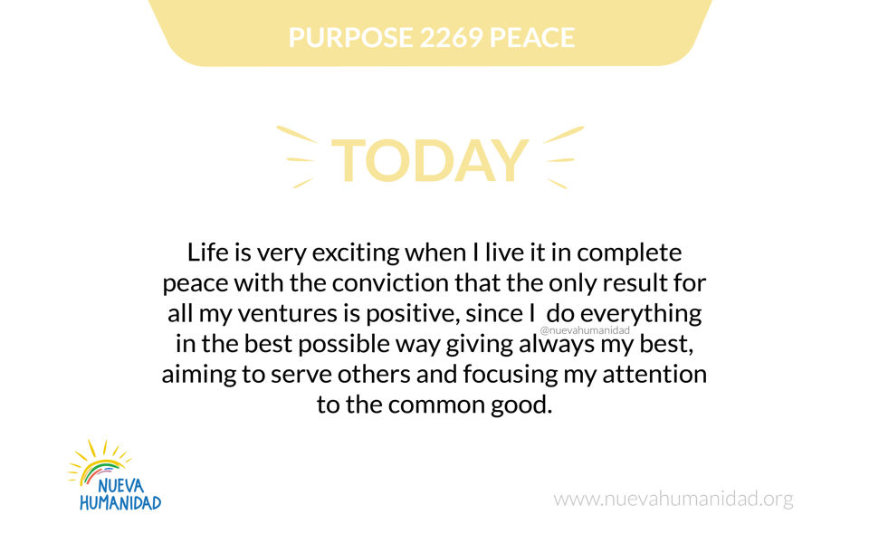 Purpose 2269 Peace